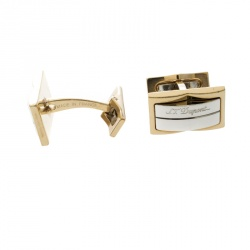 S.T. Dupont Two Tone Rectangular Cufflinks