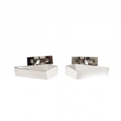 S.T. Dupont 007 Casino Royale Silver Tone Cufflinks