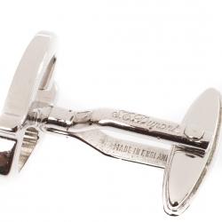 S.T. Dupont D Logo Silver Tone Classic Cufflinks