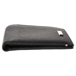 S.T. Dupont Black Carbon Leather Bifold Wallet