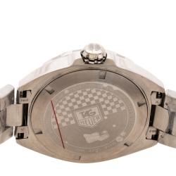 Tag Heuer White Stainless Steel Formula 1 Caiiber 5 WAZ2114.BA0875 Men's Wristwatch 41 mm