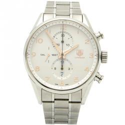 Tag Heuer Silver Steel Carrera Open Case Automatic Men's Watch 43MM