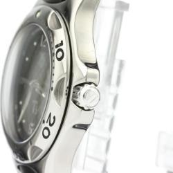 Tag Heuer Black Stainless Steel and Rubber Kirium WL1180 Men's Wristwatch 36MM