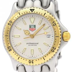 Tag Heuer Gray 18K Yellow Gold Plated Stainless Steel Sel Professional 200M S95.813 Men's Wristwatch 34 MM