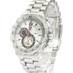 Tag Heuer Silver Stainless Steel Formula 1 Indy CAH101B Men's Wristwatch 44 MM