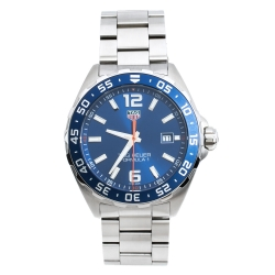 Tag Heuer Blue Stainless Steel Formula 1 WAZ1010.BA0842 Men's Wristwatch 43 mm