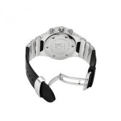 Techno Com Unisex Chronograph SS White Wristwatch