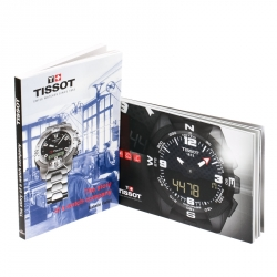 Tissot Silver White Two-Tone Stainless Steel PR100 Men's Wristwatch 39 mm