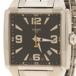 Tissot Black Stainless Steel Quadrato Men's Wristwatch 38 mm