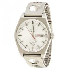 Tissot Silver White Stainless Steel Seastar Heritage PR516 T071430A Automatic Men's Wristwatch 40 mm