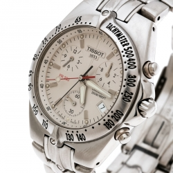 Tissot Grey Stainless Steel PR200 P162/262 Chronograph Men's Wristwatch 38 mm
