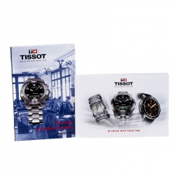Tissot Black PVD Coated Stainless Steel T-Race T048417A Men's Wristwatch 45 mm
