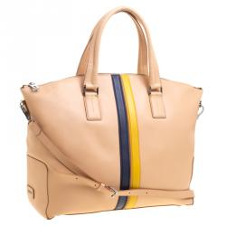 Tod's Beige Leather Large Shopping Tote