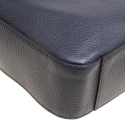 Tod's Navy Blue Leather Reporter Messenger Bag