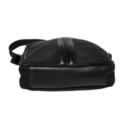 Tod's Black Nylon and Leather Pocket Messenger Bag