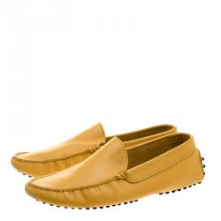 Tod's Yellow Leather Moccasins Size 42.5