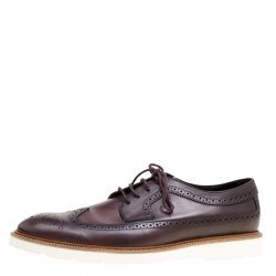 Tod's Brown Brogue Leather Wing Tip Derby Size 45.5