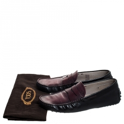 Tod's Two Tone Leather Penny Loafers Size 41