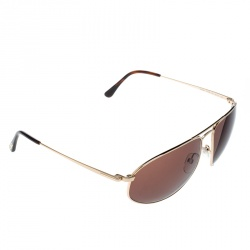 3565b822997 Tom Ford Gold Brown TF189 Nicholai Aviator Sunglasses