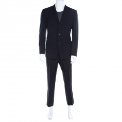 932bcbbce Tom Ford Navy Blue Wool Tailored Suit L