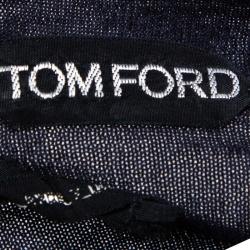 Tom Ford Navy Blue Cashmere Silk V Neck Sweater M