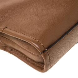 Tumi Brown Leather Seneca Slim Briefcase