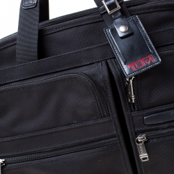 Tumi Black Nylon Alpha T-Pass Expandable Laptop Briefcase