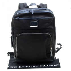 TUMI Balck/Dark Blue Nylon and Leather Global Limited Edition Backpack