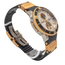Ulysse Nardin Silver Maxi Marine Diver Titanium & Rose Gold Men's Watch 45MM