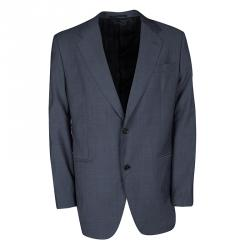 419240a1fb6c Valentino Grey Wool Tailored Two Button Blazer XXL