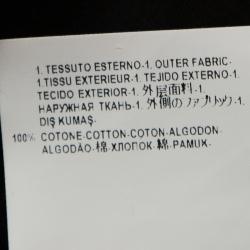 Versace Black Medusa Painted Cotton Short Sleeve T-Shirt XS