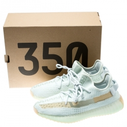 Yeezy x Adidas Light Green Cotton Knit Boost 350 V2 Hyperspace Sneakers Size 40