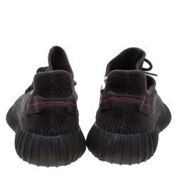 Yeezy x Adidas Black Cotton Knit Boost 350 V2 Sneakers Size 44.5