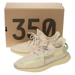 Yeezy Flax Cotton Knit Boost 350 V2 Sneakers Size 42