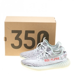 Yeezy x Adidas Two Tone Cotton Knit Boost 350 v2 Zebra Sneakers Size 43.5