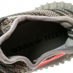 Yeezy x Adidas Two Tone Cotton Knit Boost 350 v2 Zebra Sneakers Size 37.5