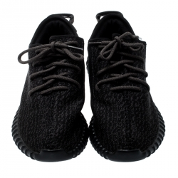 Yeezy x Adidas Pirate Black Cotton Knit Boost 350 Sneakers Size 45.5