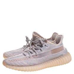 Yeezy x Adidas Light Pink/Grey  Knit Fabric Boost 350 V2 Synth Non-Reflective Sneakers Size 44