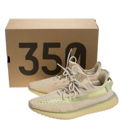 Yeezy Flax Cotton Knit Boost 350 V2 Sneakers Size 44