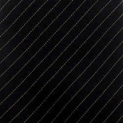 Yves Saint Laurent Black Lurex Striped Silk Tie