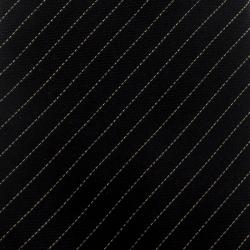Yves Saint Laurent Black Lurex Striped Silk Tie