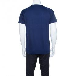 Z Zegna Techmerino Navy Blue Wool Crew Neck T-Shirt M