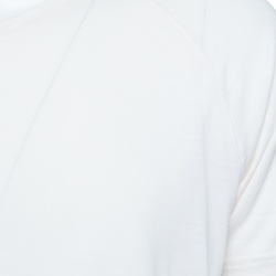 Z Zegna Techmerino Cream Wool Jersey Crew Neck T-Shirt L
