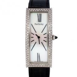 Barthelay White Diamond Fond Acier Womens Wristwatch 22 MM