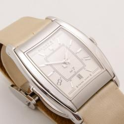 Bedat & Co. No. 7 Silver Dial Women's Leather Watch Cream