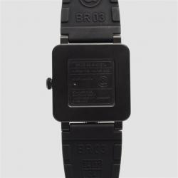 Bell & Ross SS Black Case Aviation Digital Date Mens Wristwatch 44 MM