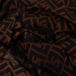 Fendi Brown Zucca Stole