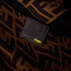 Fendi Dual Tone Silk Zucca Print Stole