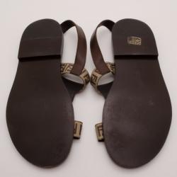 Fendi Mens Zucchino Sandals Size 44