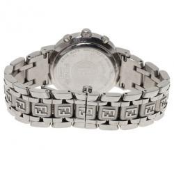 Fendi Pink Stainless Steel Zucca Women's Wristwatch 32MM